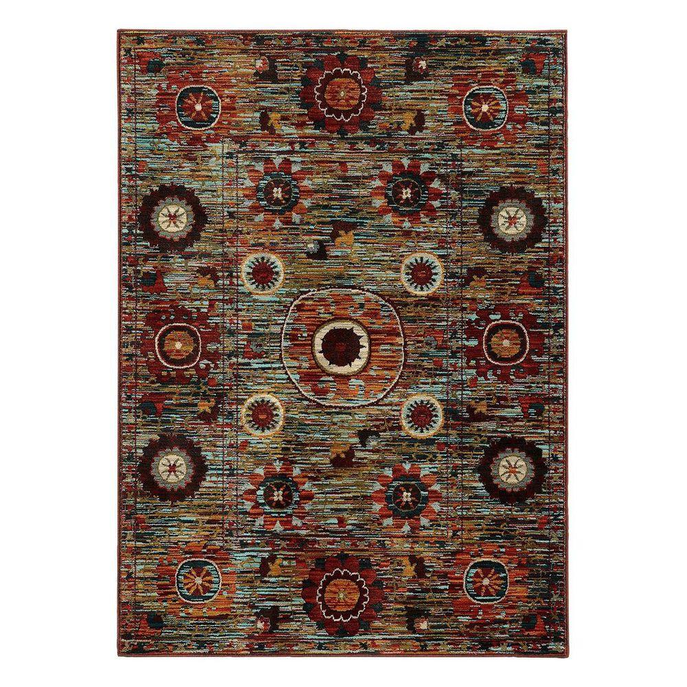 "Oriental Weavers Sedona 6408K 6'7"" x 9'1"" Brown Area Rug, , large"