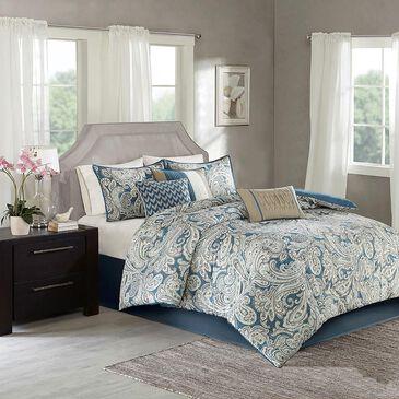 Hampton Park Gabby 7-Piece California King Comforter Set in Blue, , large