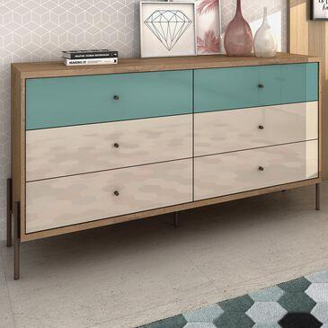 Dayton Joy 6 Drawer Double Dresser in Yellow, , large