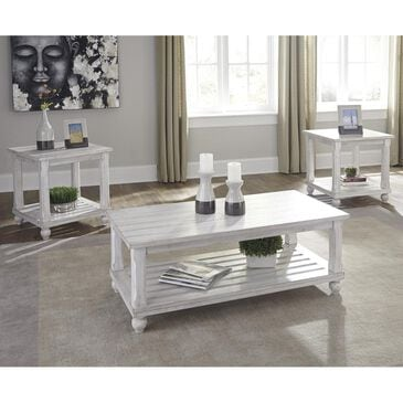 Signature Design by Ashley Cloudhurst 3-Pack Occasional Tables in White, , large