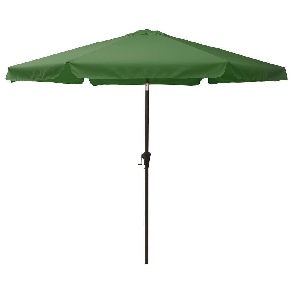 CorLiving 10' Round Tilting Patio Umbrella in Forest Green, , large