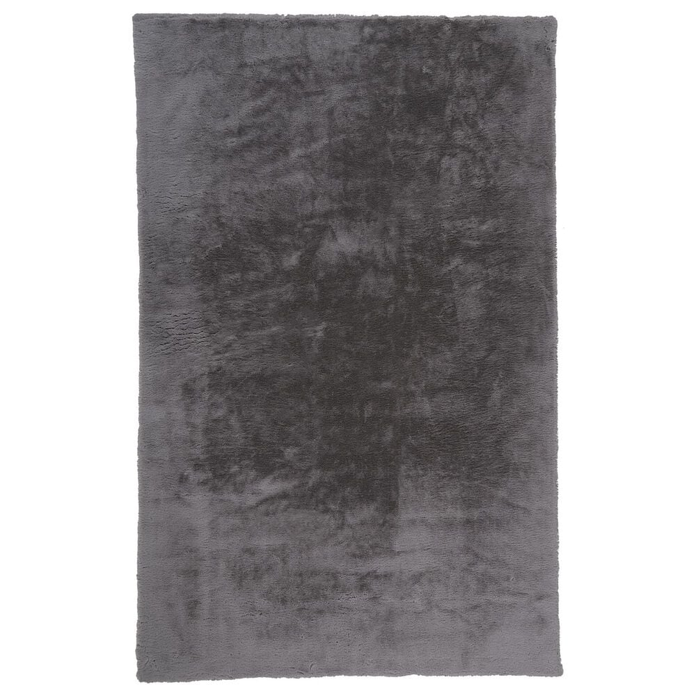 Feizy Rugs Luxe Velour 4' x 6' Light Gray Area Rug, , large
