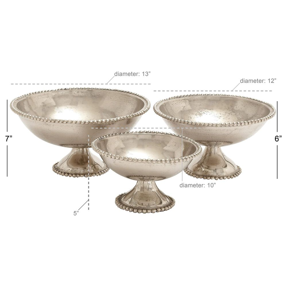 Maple and Jade Assorted Bowls in Silver (Set of 3), , large