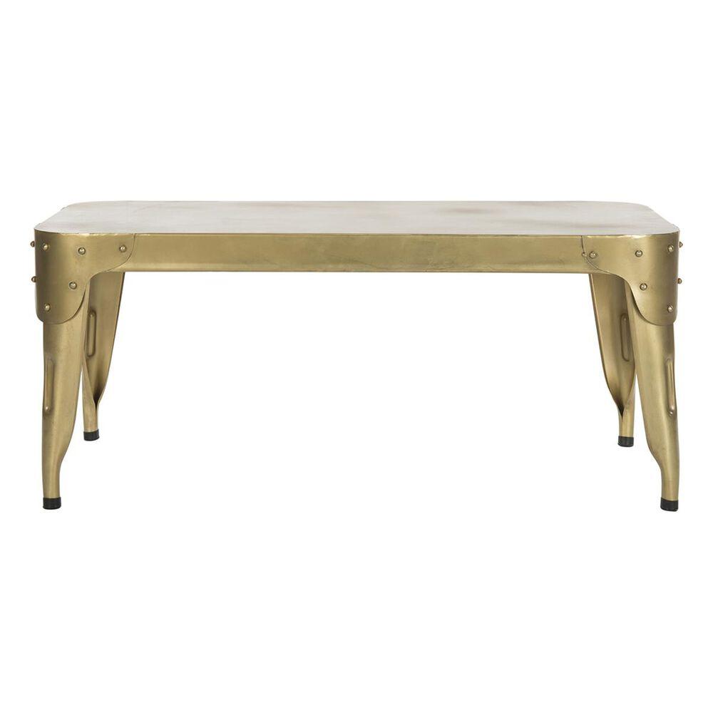 Safavieh Classsic Iron Coffee Table in Gold, , large