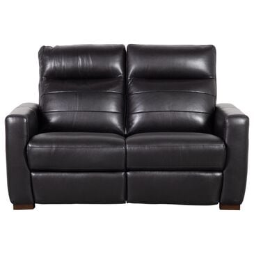Violino Power Recliner Loveseat with Power Headrest in Classico Black Leather Match , , large