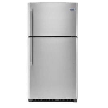 Maytag 21 Cu. Ft. 33-Inch Wide Top Freezer Refrigerator with EvenAir Cooling Tower Stainless Steel, , large