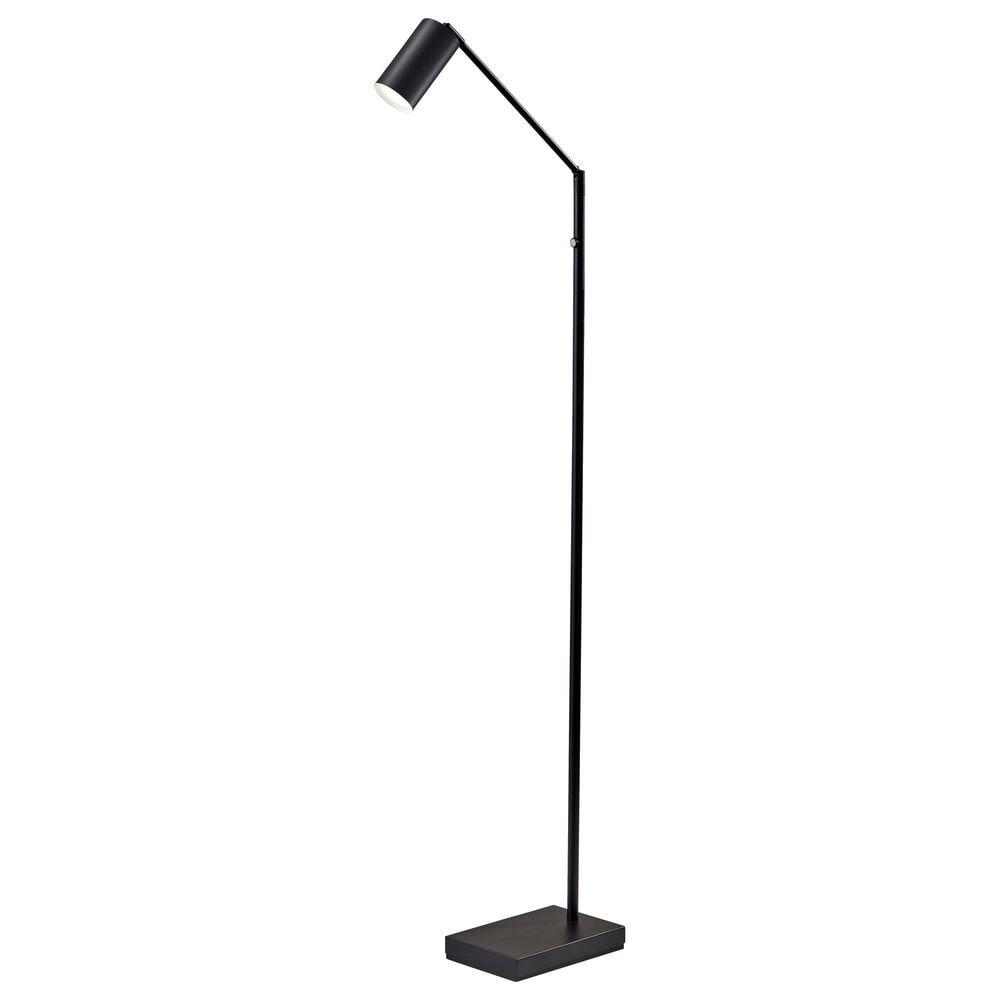 Adesso Colby LED Floor Lamp in Black, , large