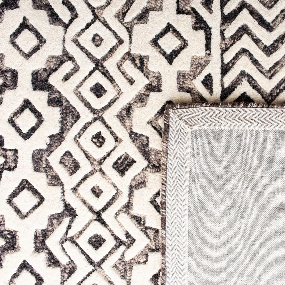 Safavieh Abstract ABT259F 5' x 8' Ivory and Grey Area Rug, , large