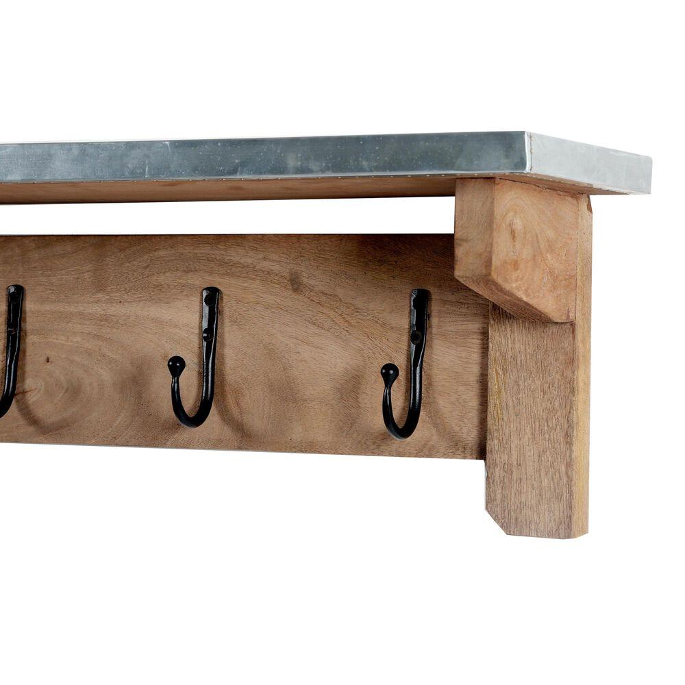 "Bolton Furniture Millwork 40"" Hook Shelf in Light Brown/Silver, , large"