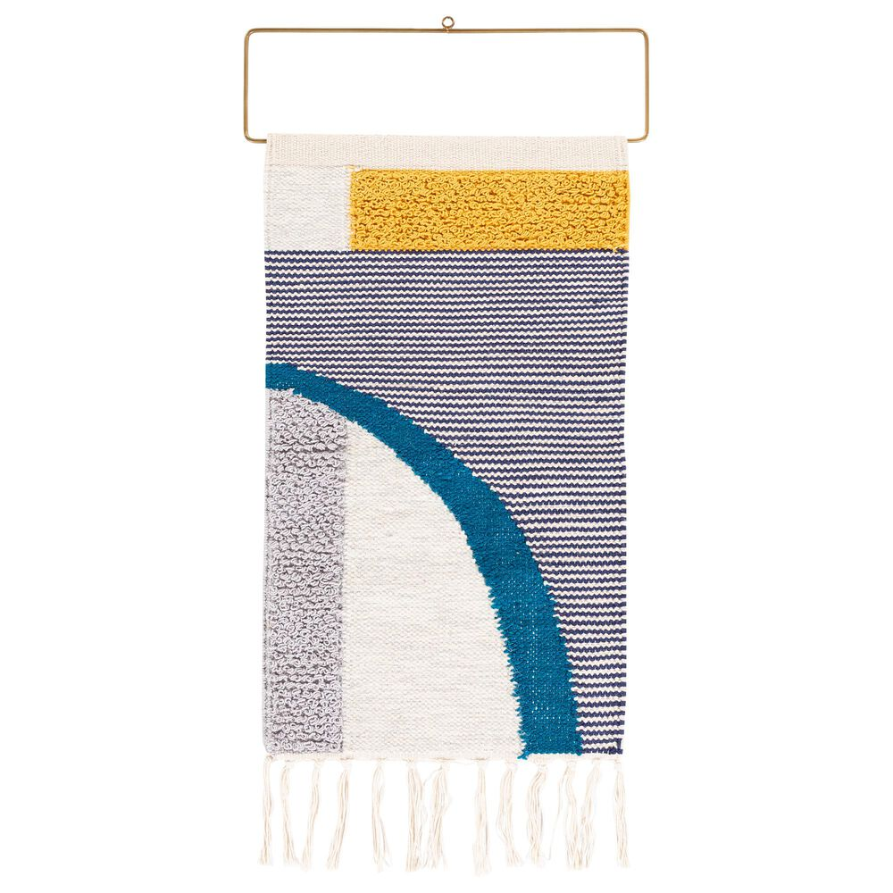 Surya Inc Matisse Wall Hanging in Saffron/Gray/Navy, , large