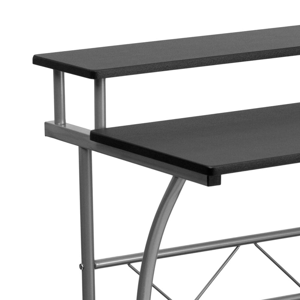 Flash Furniture Clifton Computer Desk in Black with Laminate Finish, , large