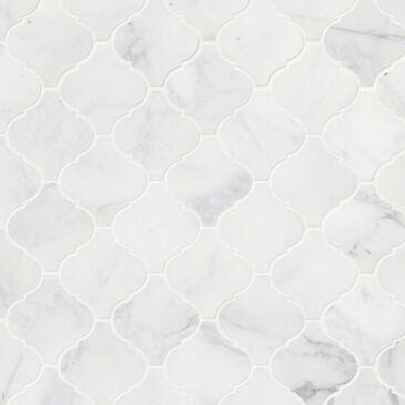 "MS International Calacatta Cressa Arabesque Honed 12"" x 12"" Tile , , large"