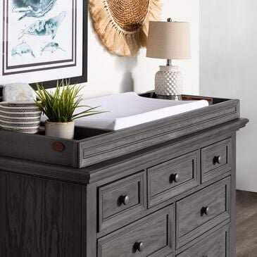 Oxford Baby Glenbrook Changing Topper in Graphite Gray, , large