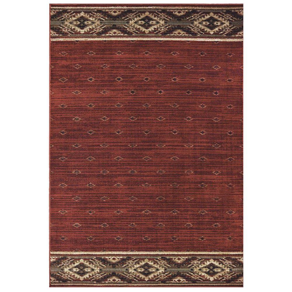 "Oriental Weavers Woodlands 9652C 5'3"" x 7'3"" Red Area Rug, , large"