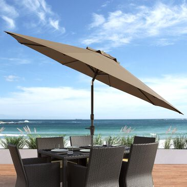 CorLiving 10' UV & Wind Resistant Patio Umbrella in Sandy Brown, , large