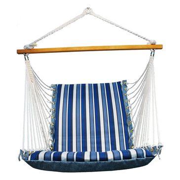 Algoma Fabric Hammock Chair in Tropical Palm Blue, , large