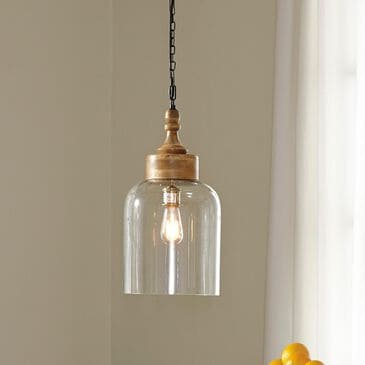 Signature Design by Ashley Faiz Glass Pendant Light in Natural, , large