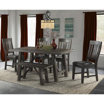 Mayberry Hill Cash 6-Piece Dining Set in Dark Grey, , large