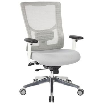 OSP Home ProGrid ProGrid Mid Back Chair in White/Grey, , large