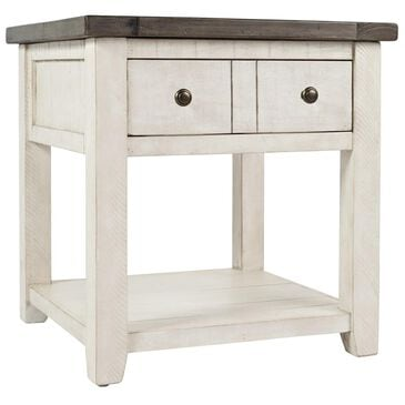 Waltham Madison County End Table in Vintage White, , large