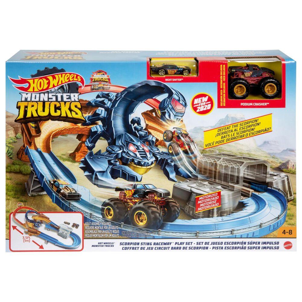 Mattel Hot Wheels Monster Truck Scorpion Sting Raceway, , large
