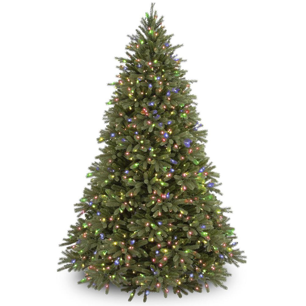 """National Tree 9"""" Feel Real Fir Tree with 1500 Multicolor Lights, , large"""