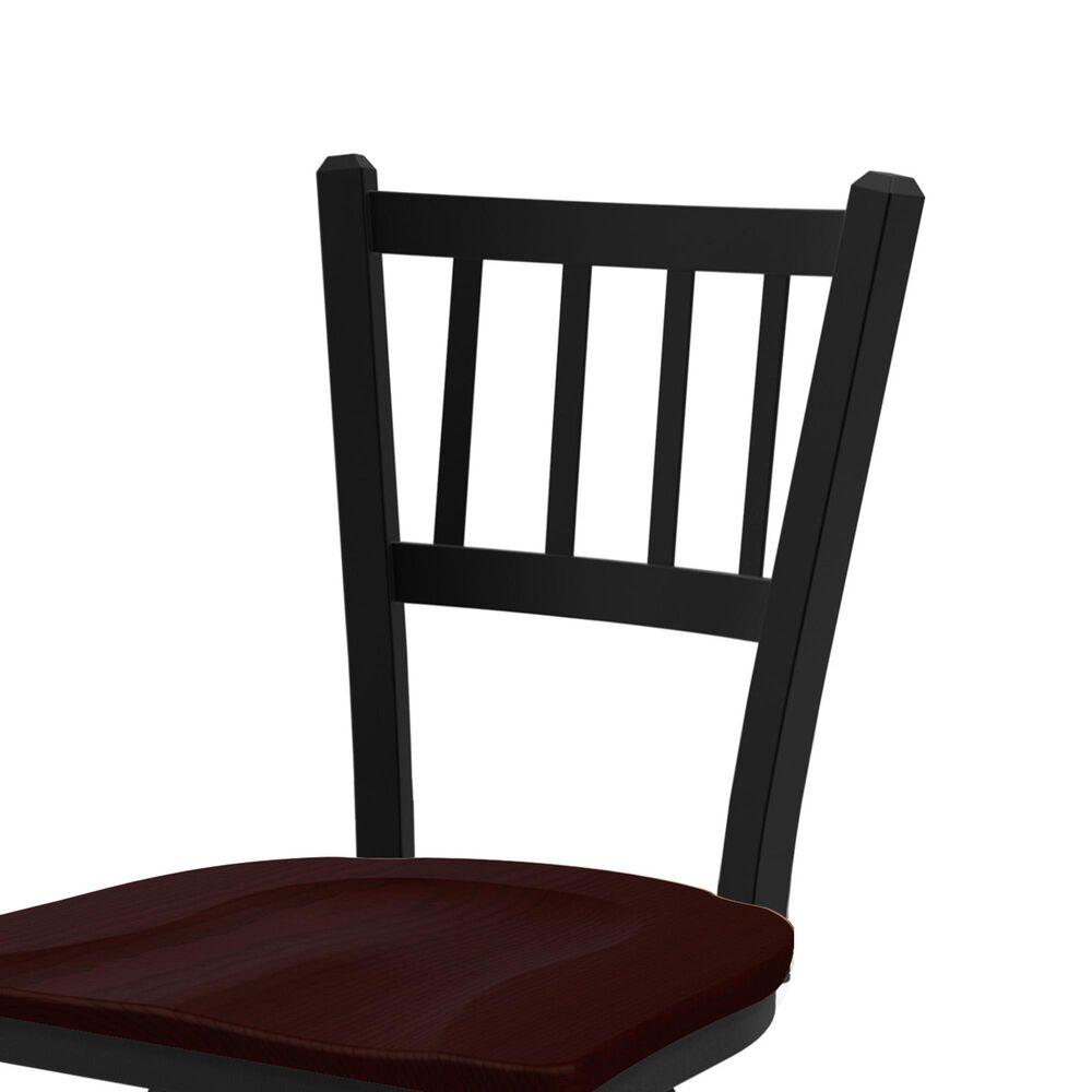 "Holland Bar Stool 810 Contessa 25"" Swivel Counter Stool with Black Wrinkle and Dark Cherry Oak Seat, , large"
