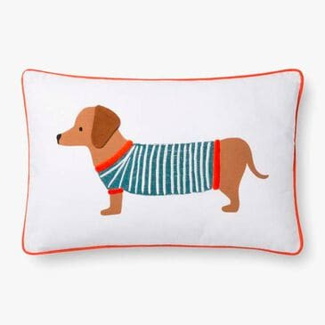Rifle Paper Co. Pillow with Dog in White, , large