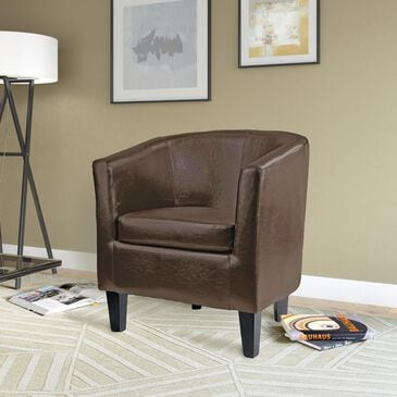 CorLiving Antonio Tub Chair in Dark Brown, , large