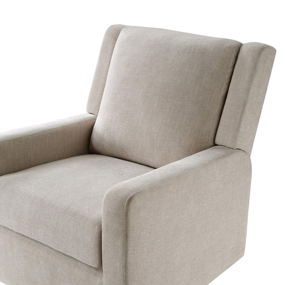 Ovis Clara Nursery Swivel Glider Chair in Sand Beige and Black, , large