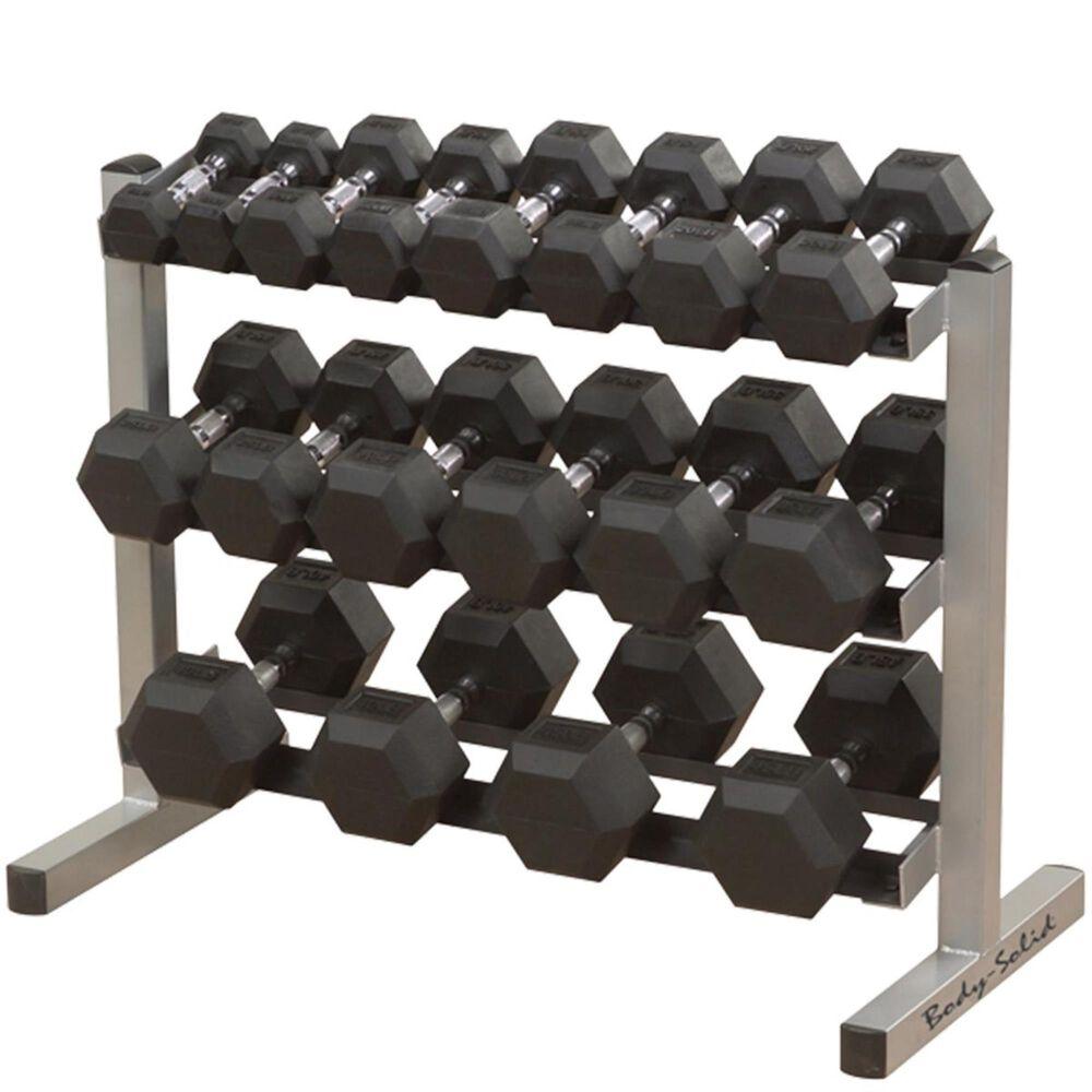 Body Solid 3 Tier Dumbbell Rack (Dumbbells Sold Separate), , large