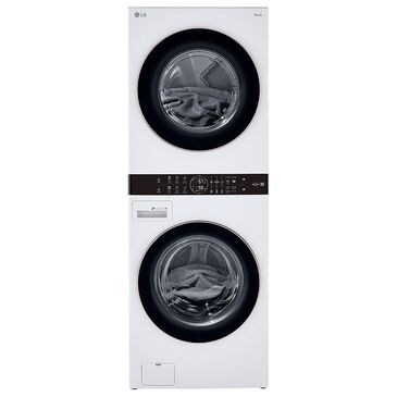 LG WashTower 4.5 Cu. Ft. Washer and 7.4 Cu. Ft. Gas Dryer in White, , large