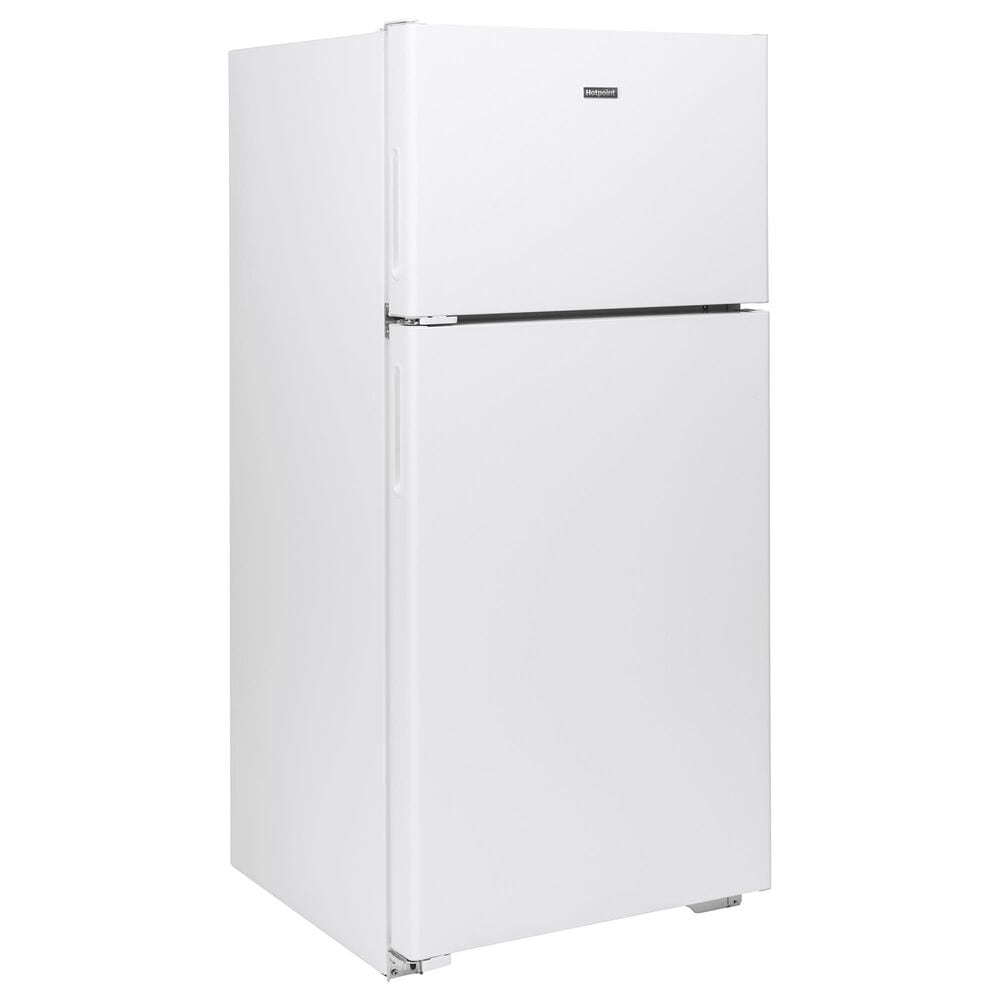Hotpoint 15.6 Cu. Ft. Top Freezer Refrigerator with Left Hinge in White, , large