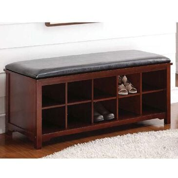 Linden Boulevard Cape Anne Bench in Dark Walnut, , large