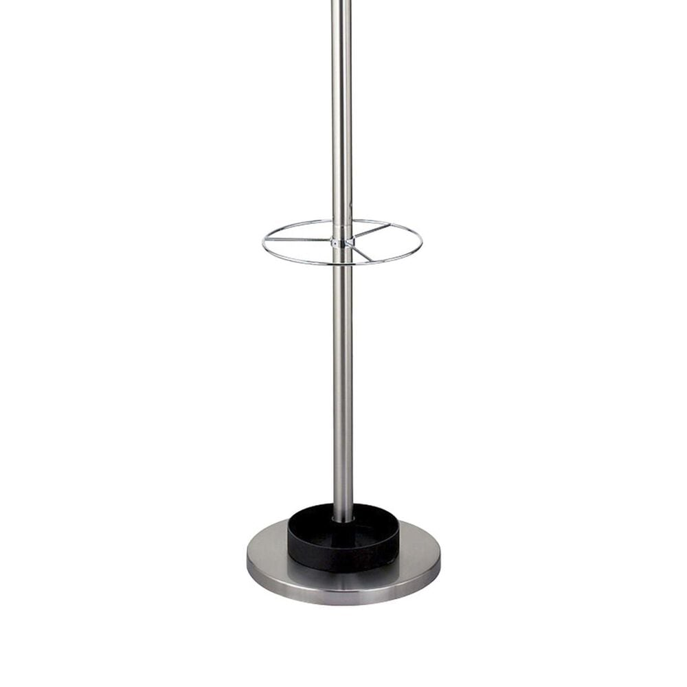 Adesso Umbrella Stand/Coat Rack in Brushed Steel, , large