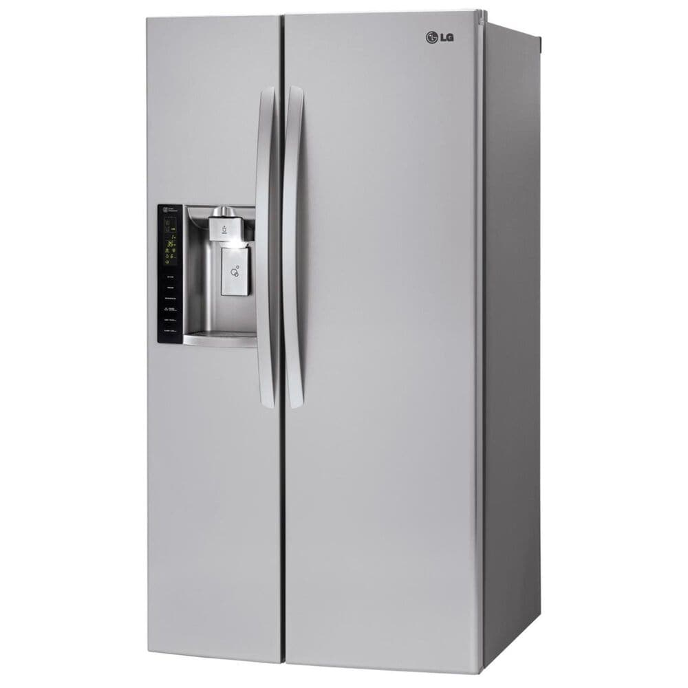 LG 22 Cu. Ft. Ultra Large Capacity Side-by-Side Counter-Depth Refrigerator with Ice & Water Dispenser , , large