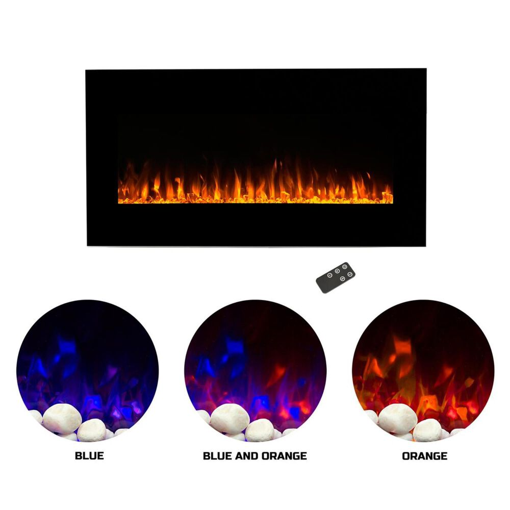Timberlake Northwest LED Fire and Ice Electric Fireplace with Remote, , large