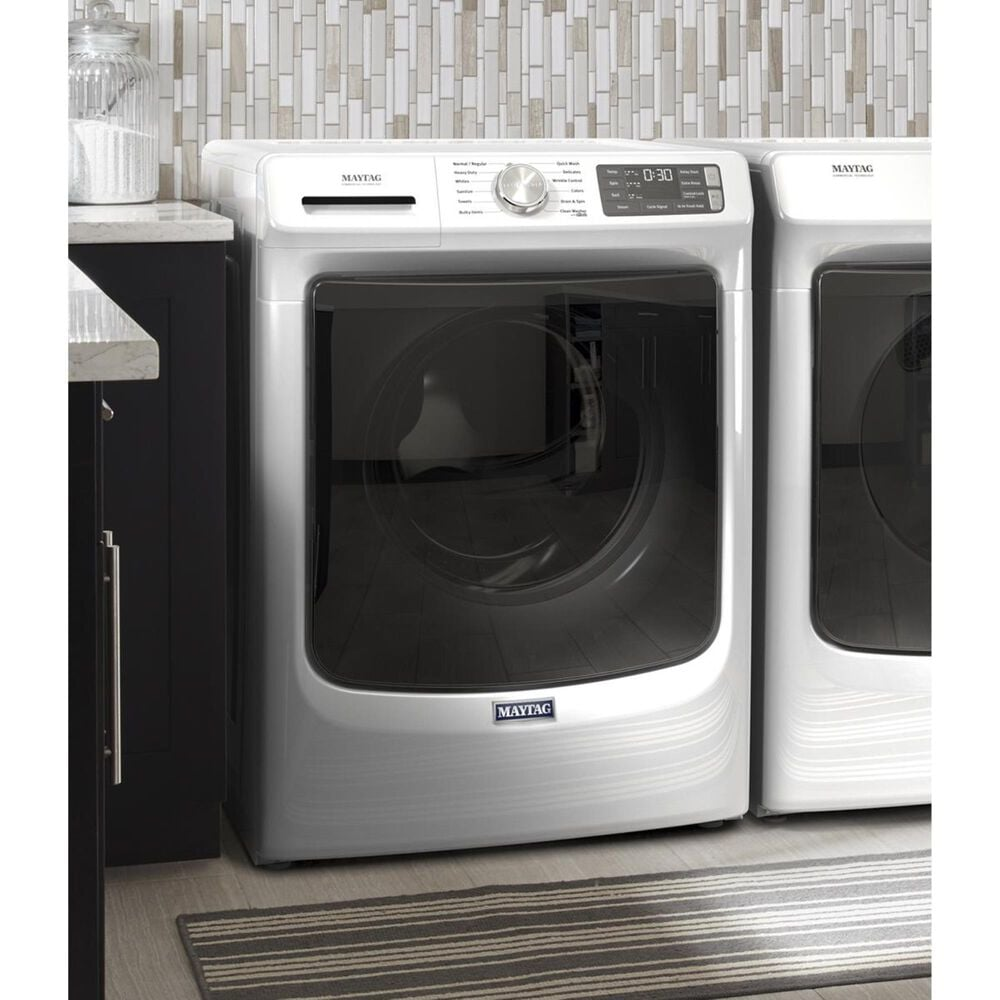 Maytag 4.8 Cu. Ft. Front Load Washer with Steam in White, , large