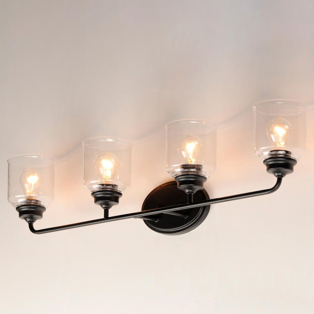 Maxim Lighting Acadia 4-Light Bath Vanity in Black, , large
