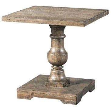 Lane Charleston Pedestal End Table in Barley Oak, , large