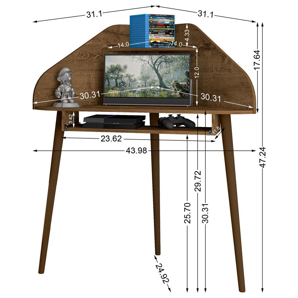 Dayton Bradley Corner Desk in Rustic Brown, , large
