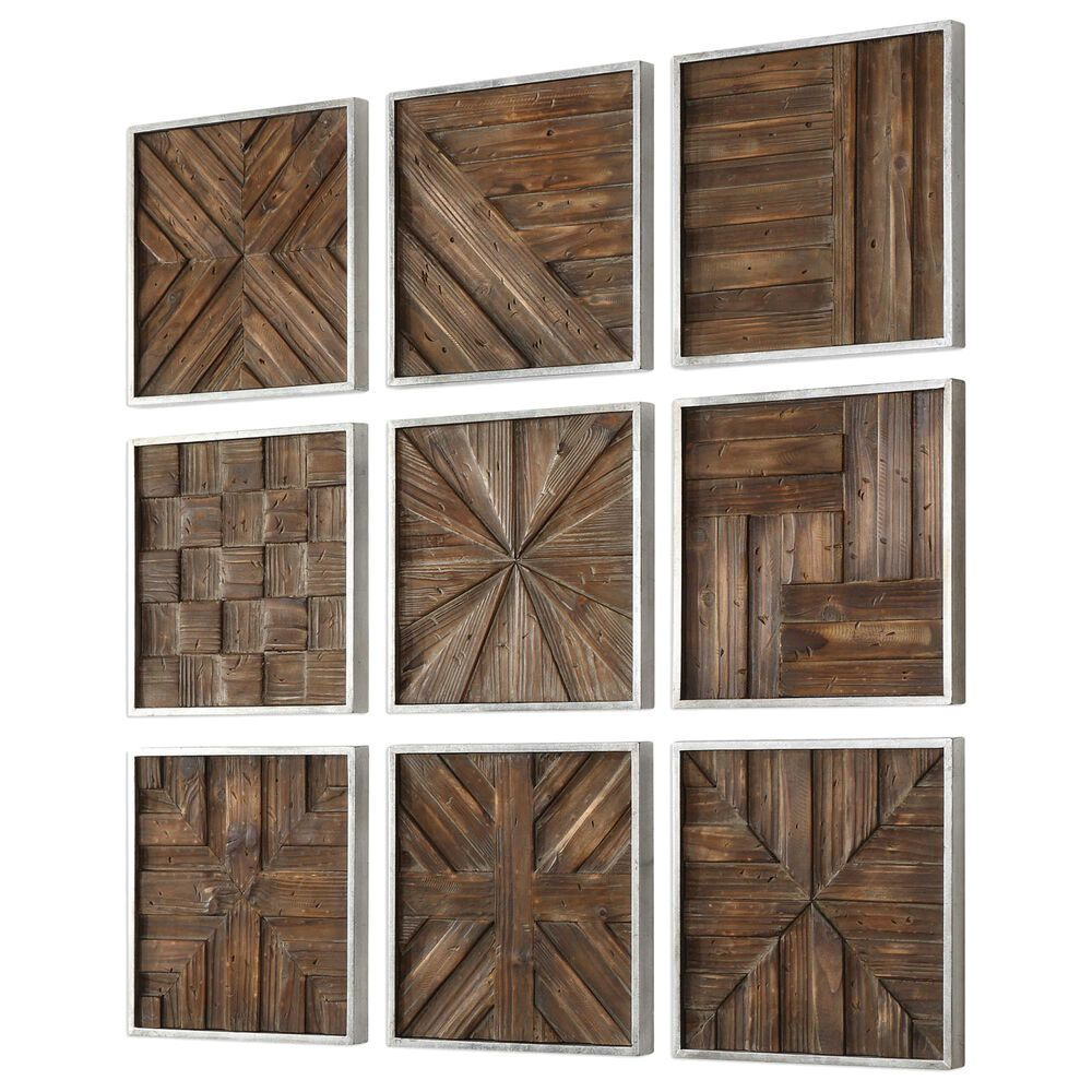 Uttermost Bryndle Wood Squares (Set of 9), , large
