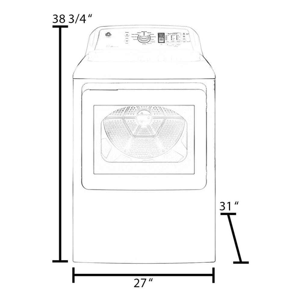 Whirlpool 7.4 Cu. Ft. Front Load Gas Dryer with Steam in White, , large