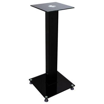 Helios Glass and Wood Bookshelf Speaker Stand in Black, , large