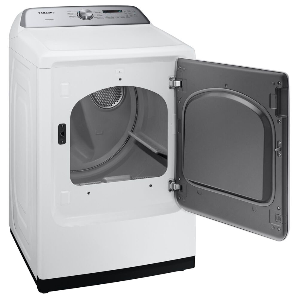 Samsung 5 Cu. Ft. Top Load Washer and 7.4 Cu. Ft. Electric Dryer Laundry Pair in White, , large