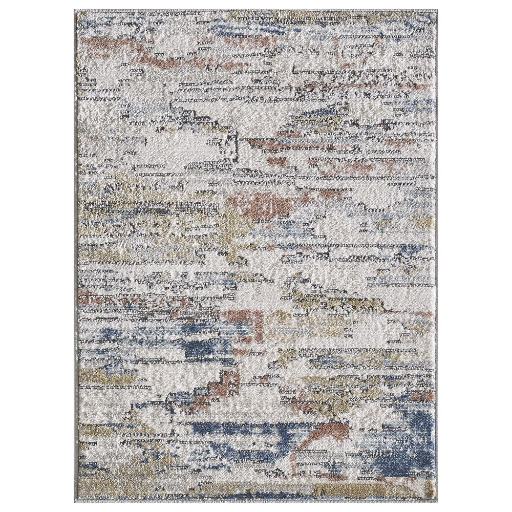"""Central Oriental Orient Damaris 3823.81 7'10"""" x 9'10"""" Ivory and Grey Area Rug, , large"""