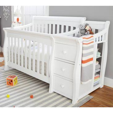 Sorelle Princeton Elite Crib and Changer in White, , large