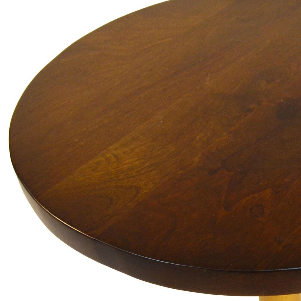 Carolina Chair and Table Elettra Adjustable Table in Elm and Gold, , large