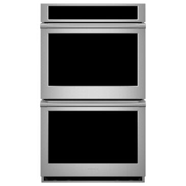 "Monogram Statement 30"" Electric Double Wall Oven in Stainless Steel, , large"