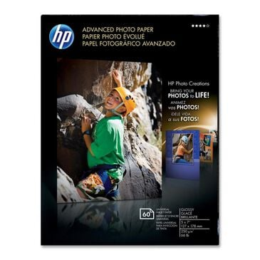 """HP 60 Sheets Advanced Glossy Photo Paper (5"""" x 7""""), , large"""
